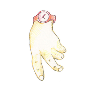 Laufende Hand